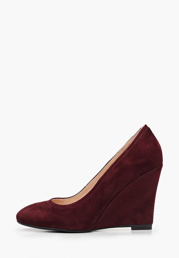 женские туфли с закрытым носом valley, бордовые