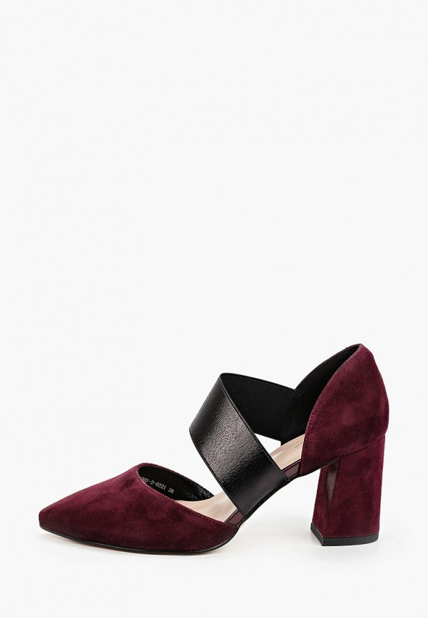 женские туфли valley, бордовые