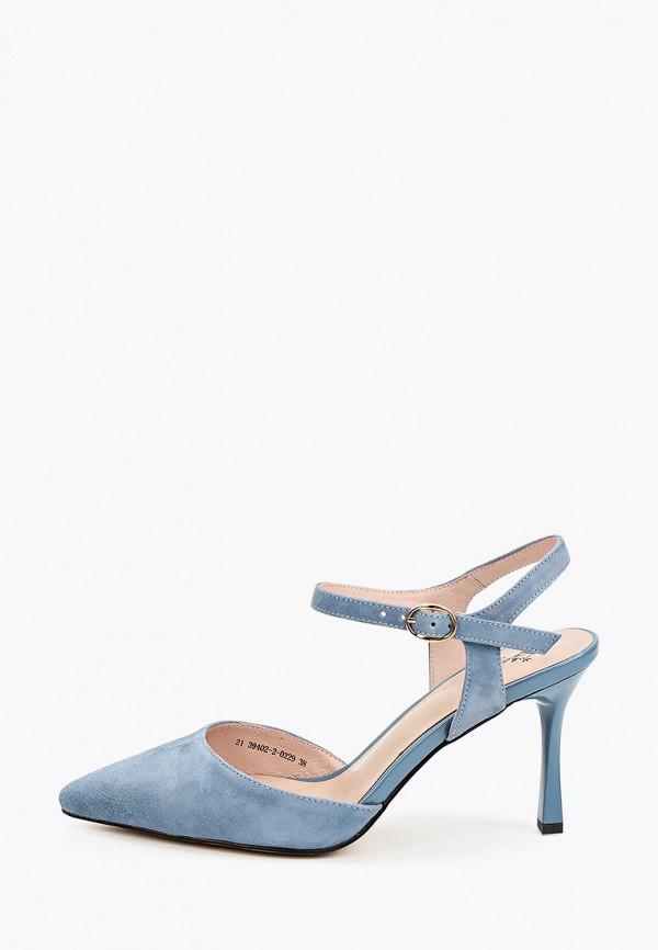женские туфли valley, голубые
