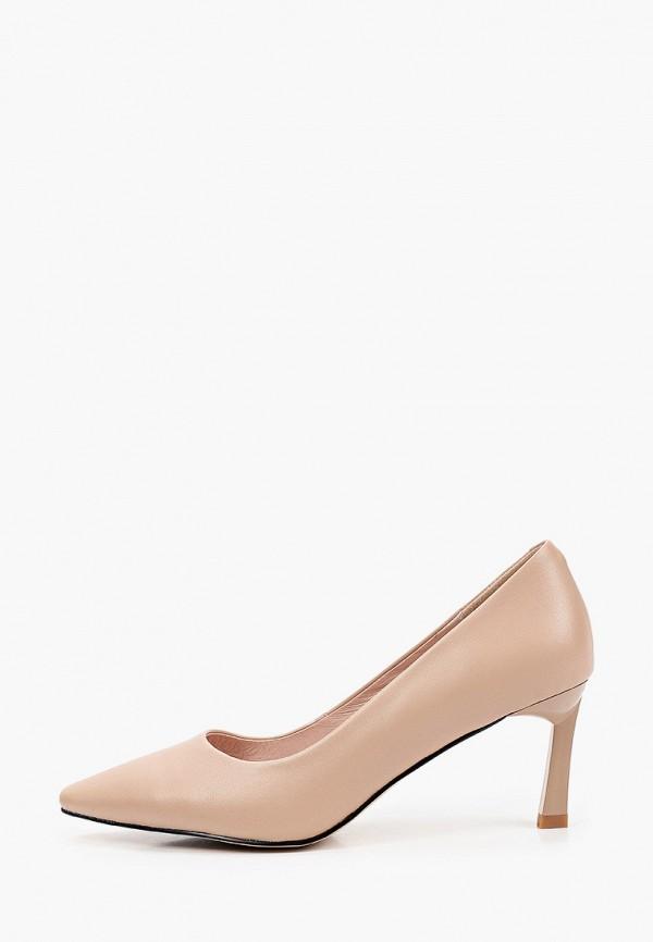 женские туфли с закрытым носом valley, бежевые