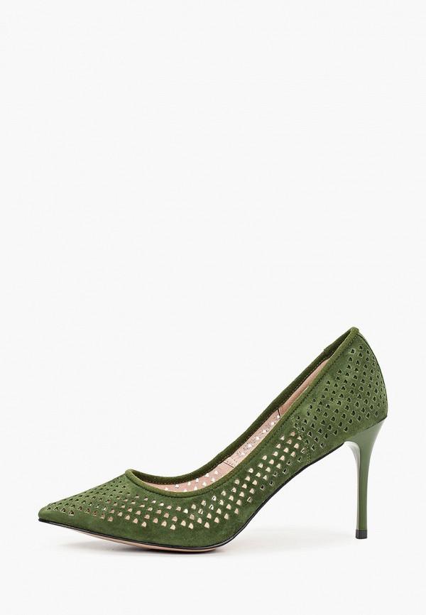 женские туфли-лодочки valley, зеленые
