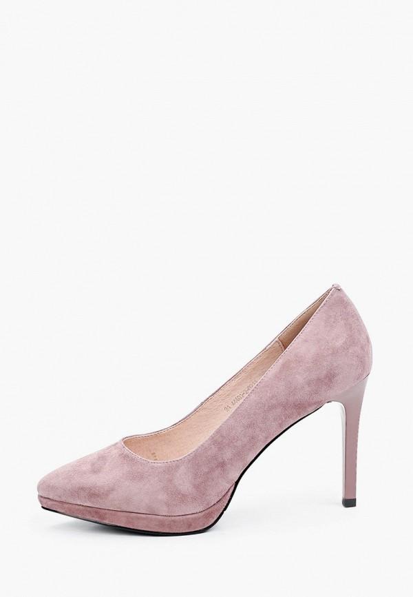 женские туфли-лодочки valley, розовые