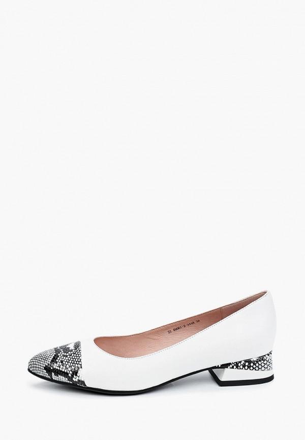 женские туфли с закрытым носом valley, белые