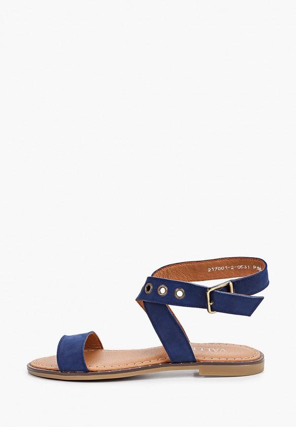 женские сандалии valley, синие