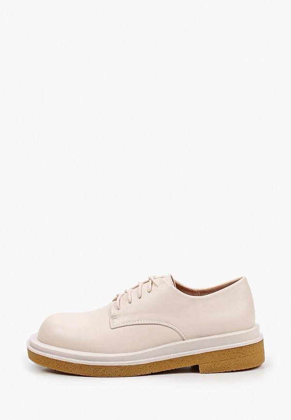 женские ботинки-оксфорды may vian, белые