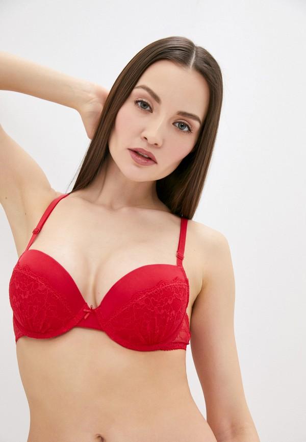 женский бюстгальтер push-up infinity lingerie, красный