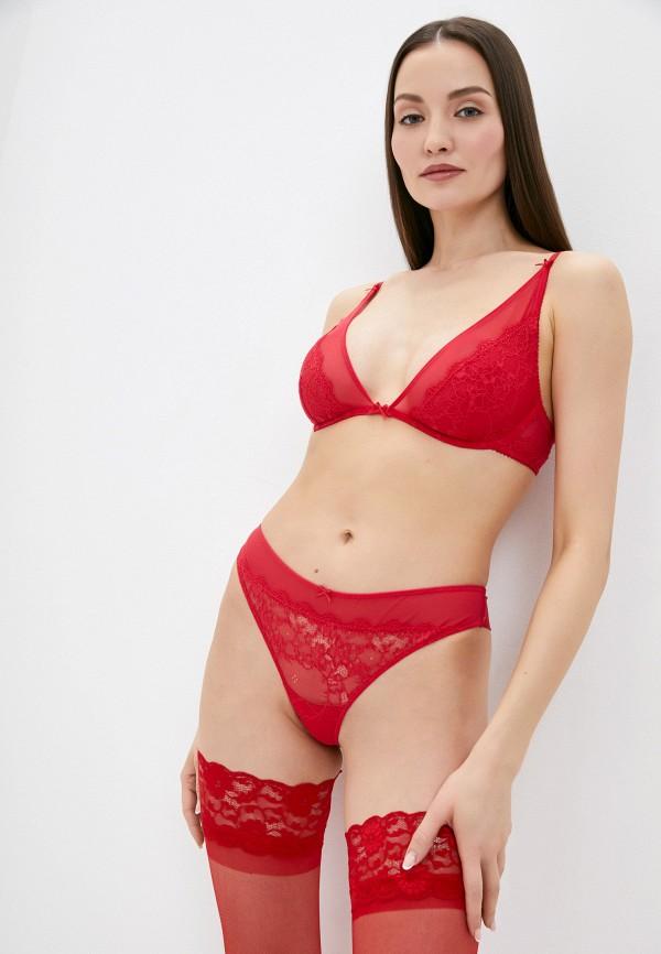 женский бюстгальтер на косточках infinity lingerie, красный
