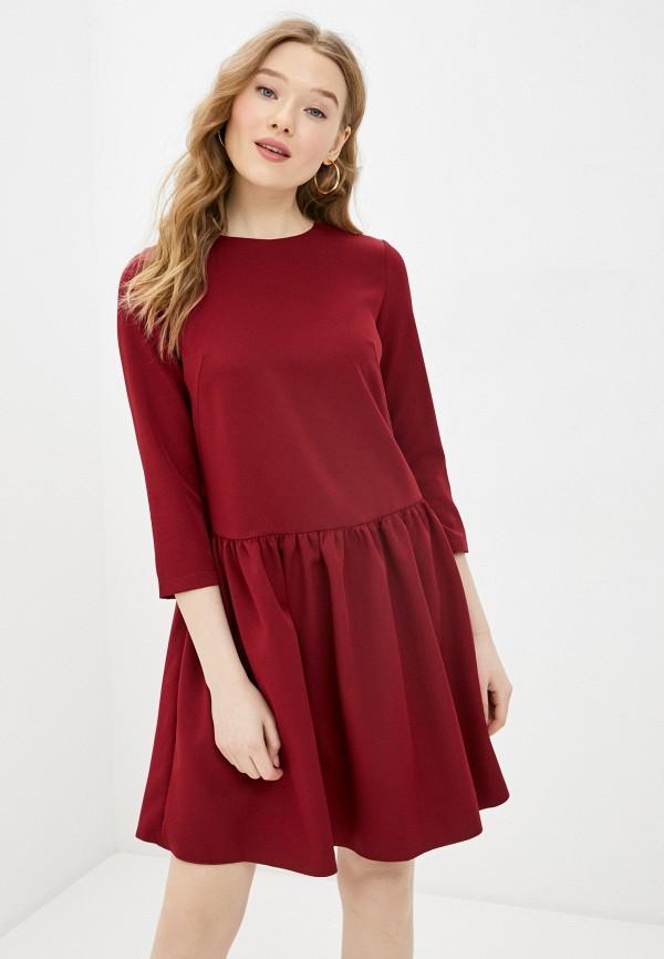 женское повседневные платье a-a awesome apparel by ksenia avakyan, бордовое