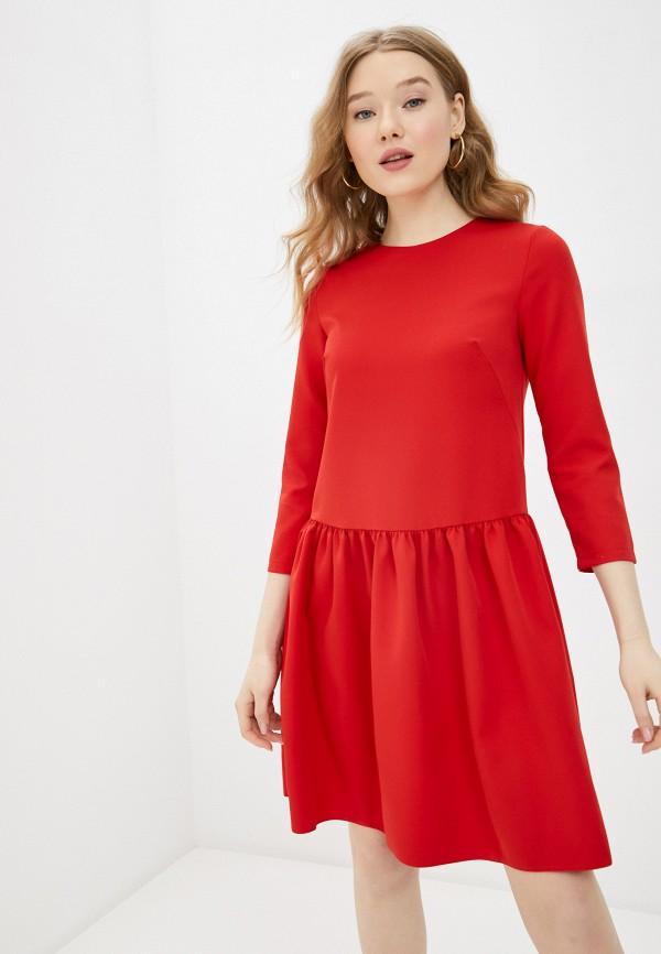 женское повседневные платье a-a awesome apparel by ksenia avakyan, красное