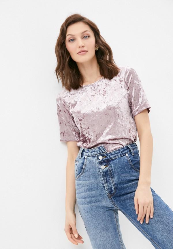 женская футболка a-a awesome apparel by ksenia avakyan, розовая