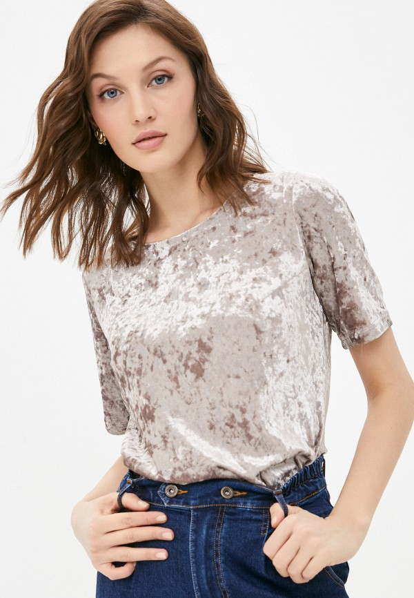 женская футболка a-a awesome apparel by ksenia avakyan, бежевая