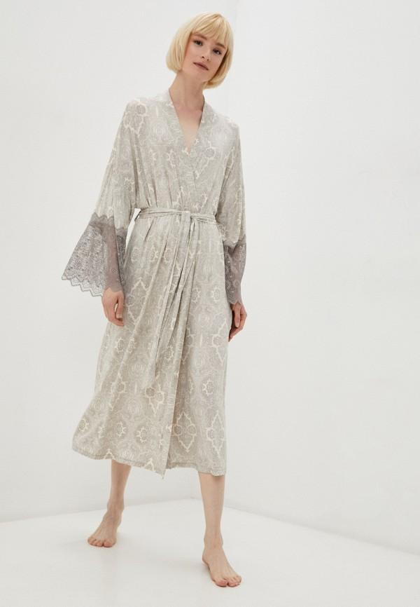 женский халат mia cara, бежевый