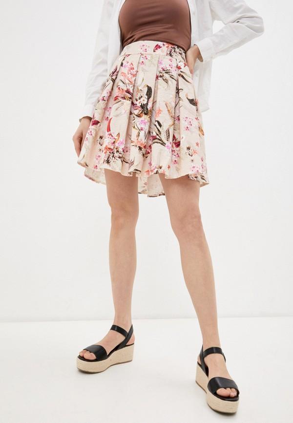женская юбка-трапеции emansipe, розовая