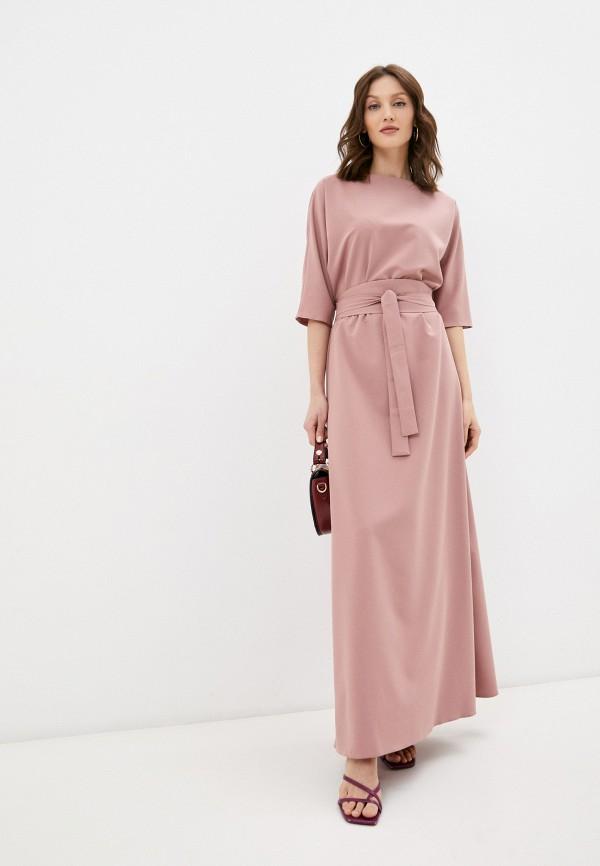 женское вечерние платье emansipe, розовое