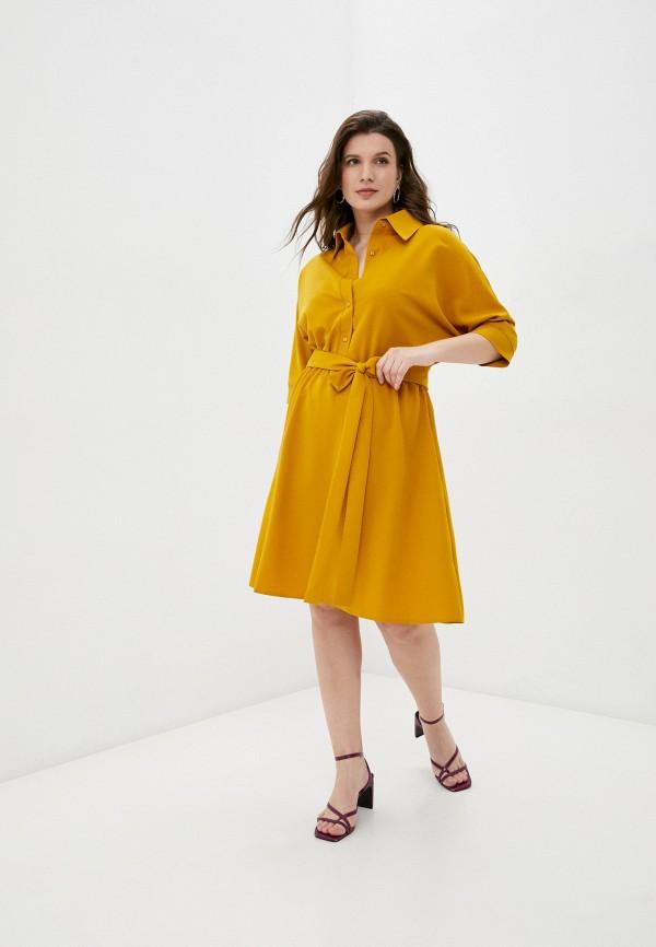 женское повседневные платье emansipe, оранжевое
