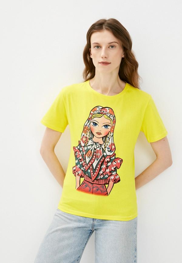 женская футболка emansipe, желтая