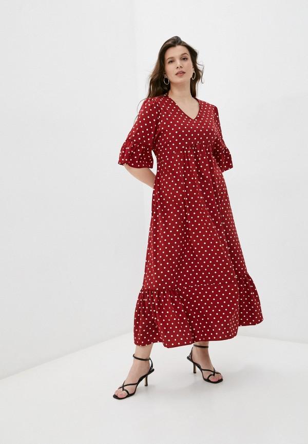женское повседневные платье emansipe, бордовое