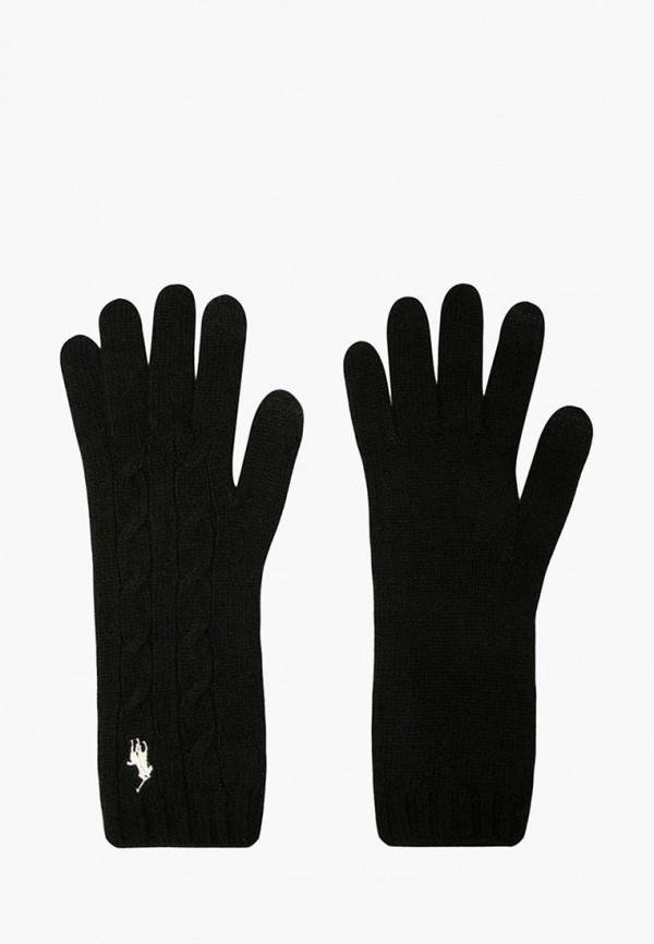 женские перчатки polo ralph lauren, черные