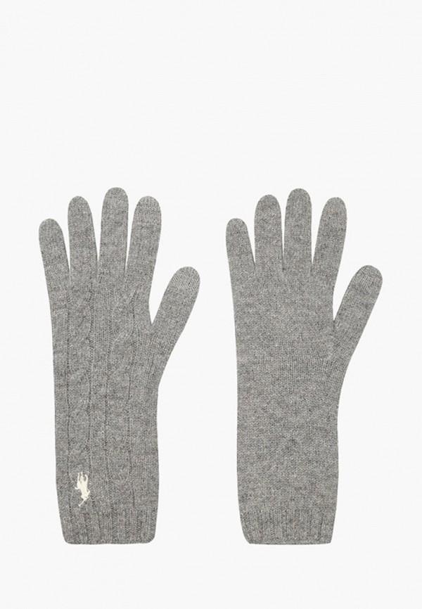 женские перчатки polo ralph lauren, серые