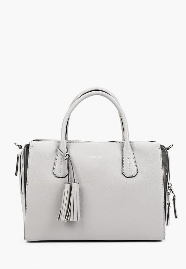 женская сумка с ручками eleganzza, серая