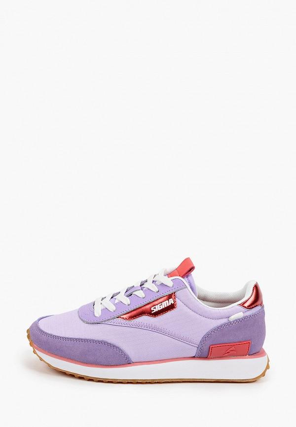 женские низкие кроссовки sigma, фиолетовые