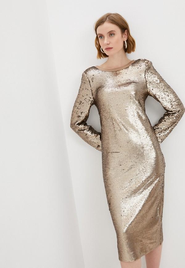 женское вечерние платье nerolab, золотое