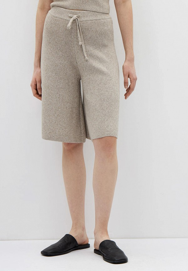 женские повседневные шорты lime, бежевые