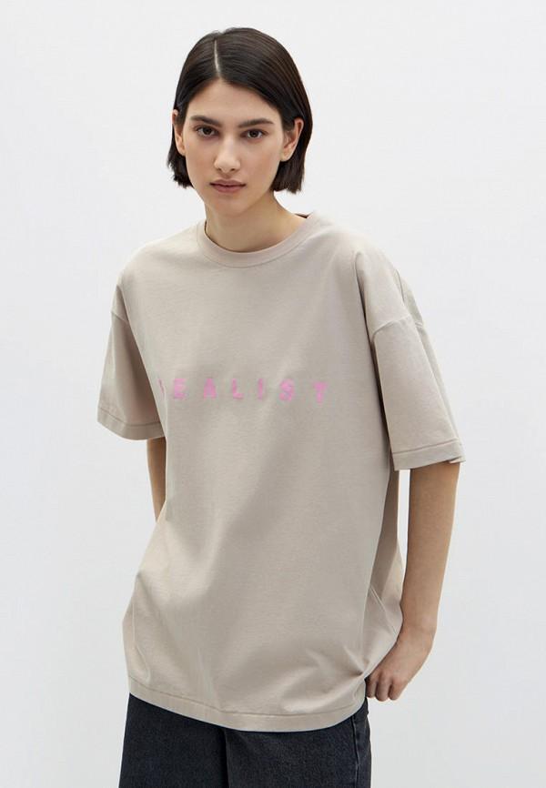 женская футболка lime, бежевая