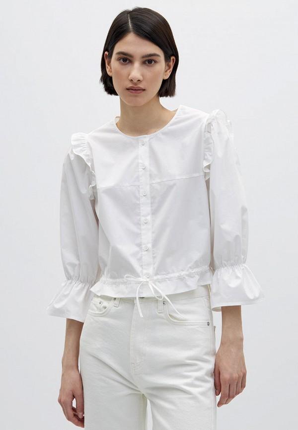 женская рубашка с длинным рукавом lime, белая