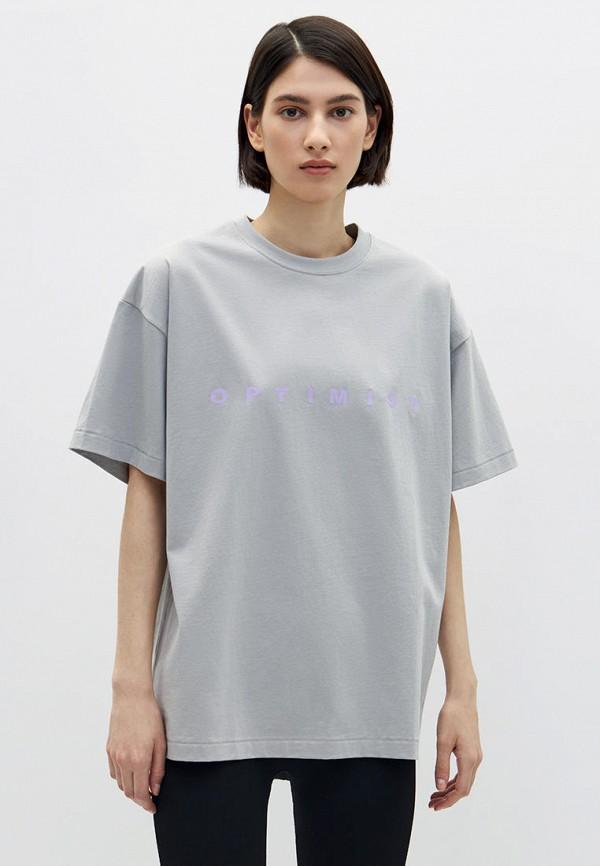 женская футболка lime, серая