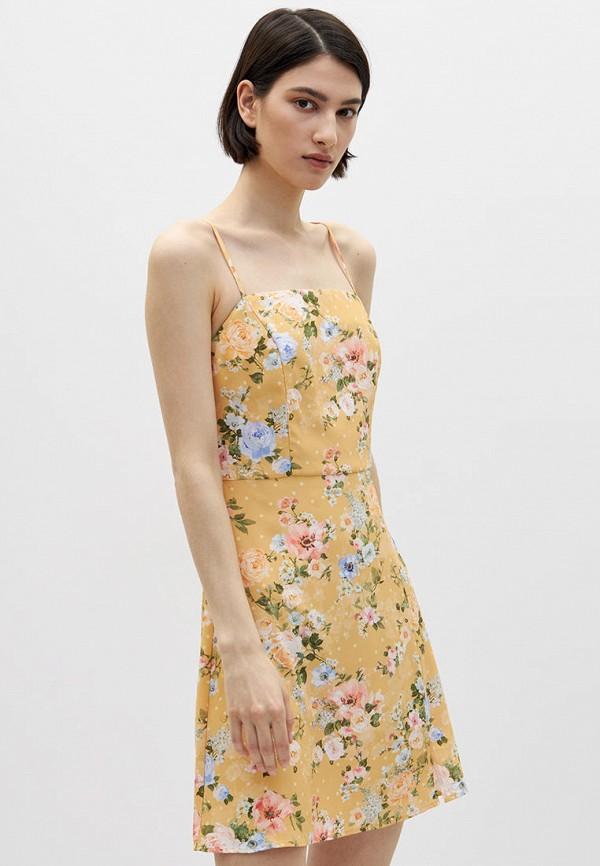 женское повседневные платье lime, желтое