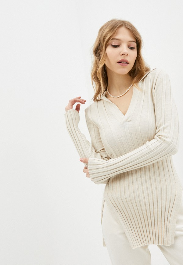 женский пуловер top top, бежевый