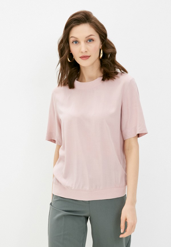 женская блузка с коротким рукавом baon, розовая