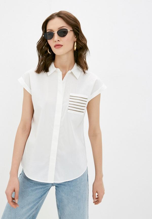 женская рубашка с коротким рукавом baon, белая