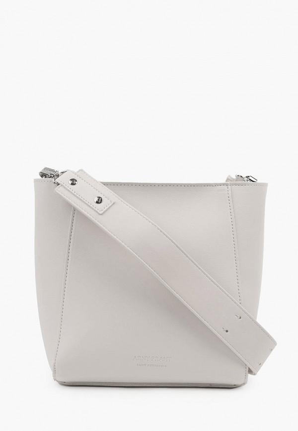 женская сумка через плечо arny praht, белая