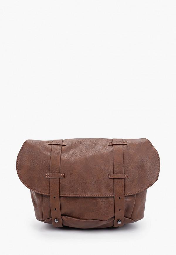 женская сумка через плечо mavi, коричневая