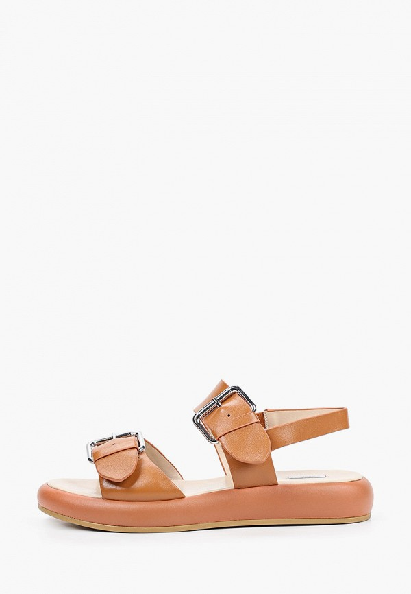 женские сандалии mascotte, коричневые