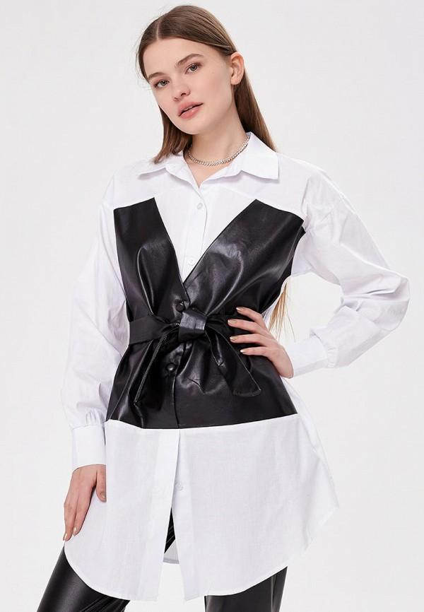 женская рубашка с длинным рукавом shelter, белая