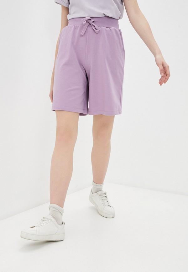 женские спортивные шорты baon, фиолетовые