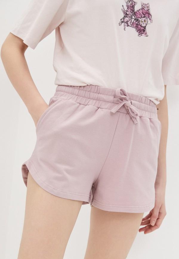 женские спортивные шорты baon, розовые