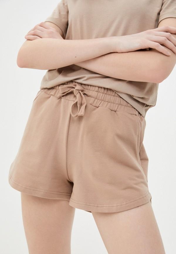 женские спортивные шорты baon, бежевые