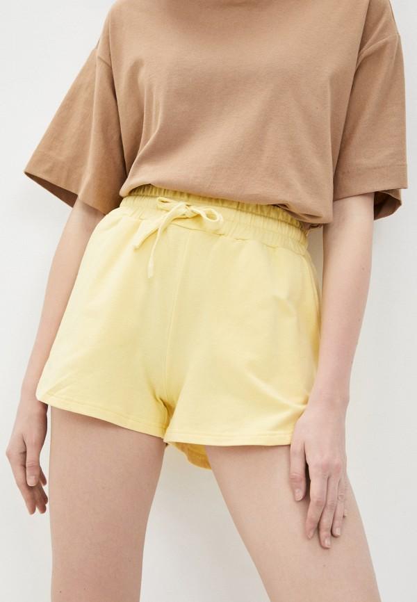 женские спортивные шорты baon, желтые