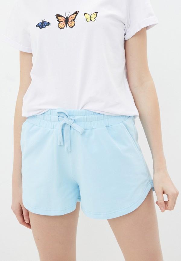женские спортивные шорты baon, голубые