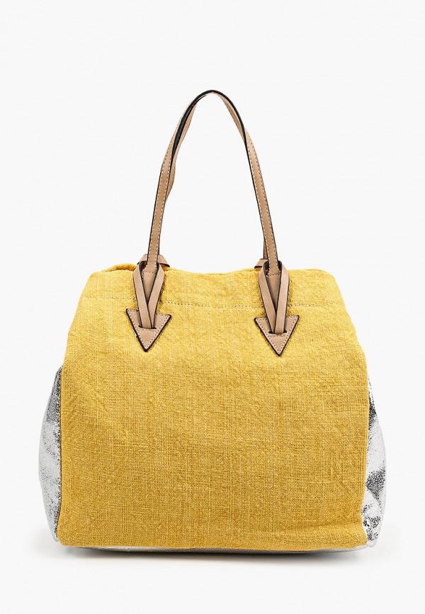 женская сумка с ручками zemsa, желтая