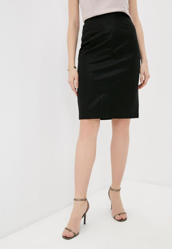 женская кожаные юбка raimaxx, черная