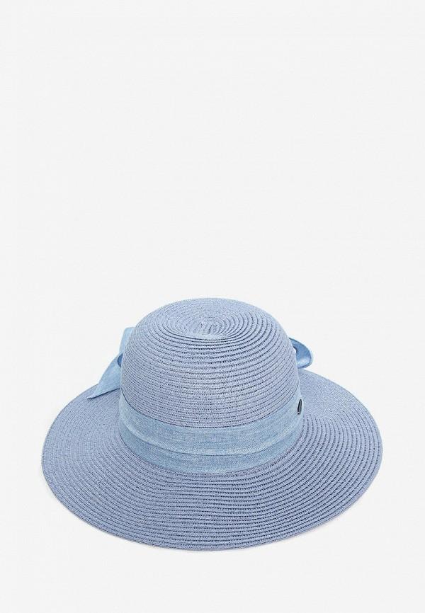 женская шляпа luckylook, голубая