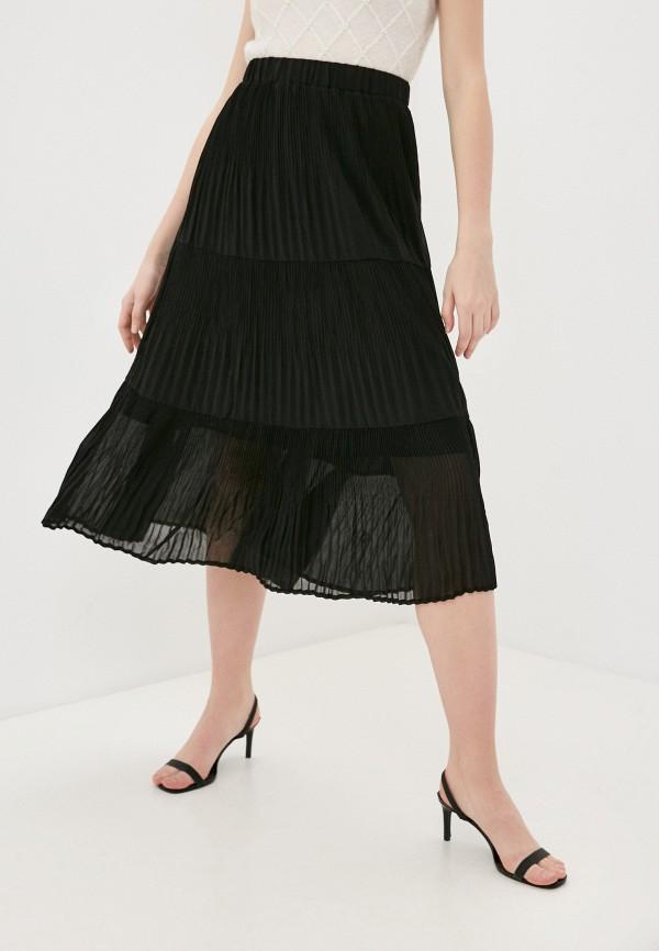 женская плиссированные юбка inwear, черная