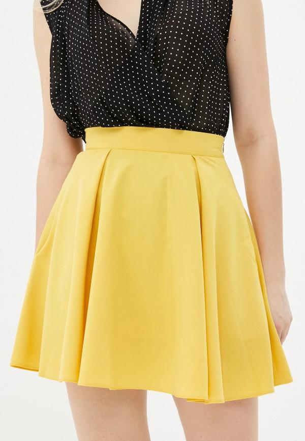 женская юбка-трапеции ramanti, желтая