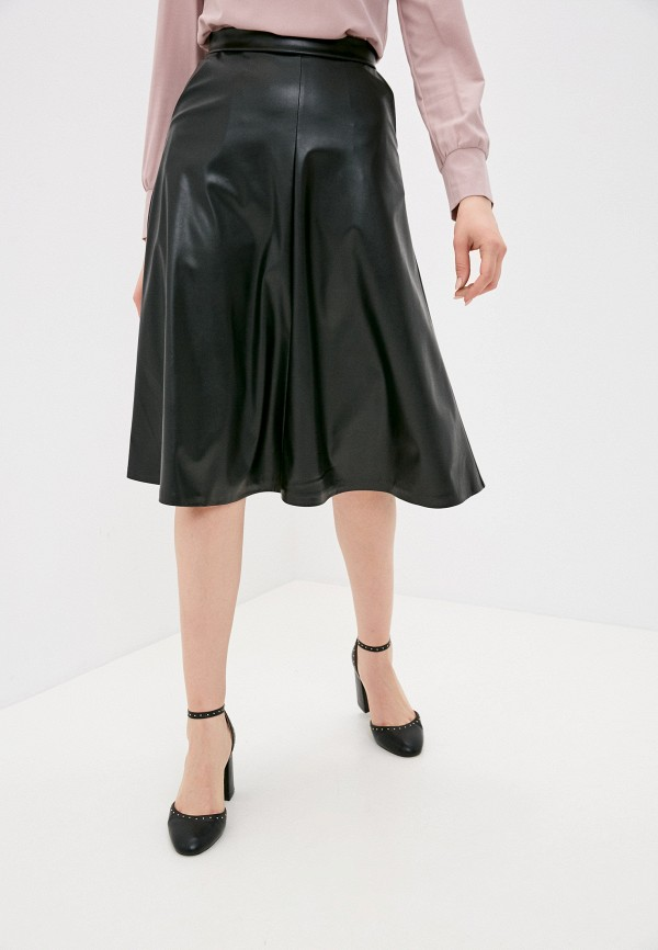 женская кожаные юбка sdress, черная