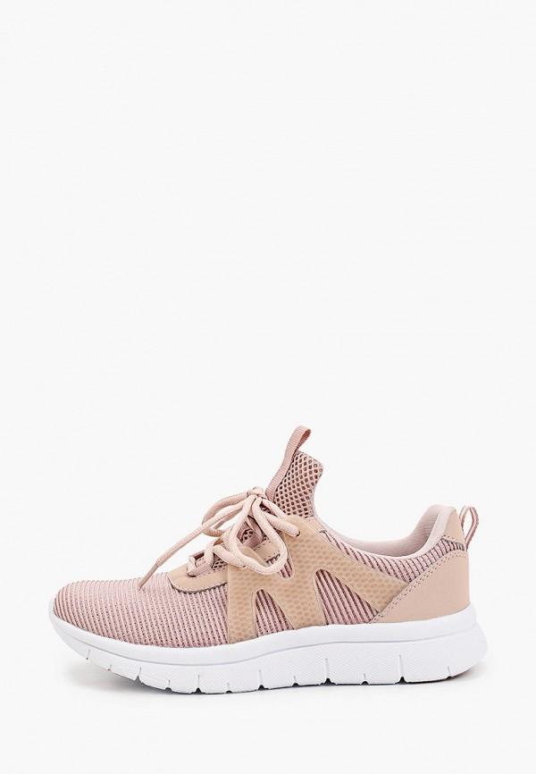 женские низкие кроссовки graceland by deichmann, розовые